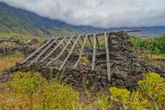 Camere abbandonate nell'isola di EL Hierro Fotografie Stock Libere da Diritti