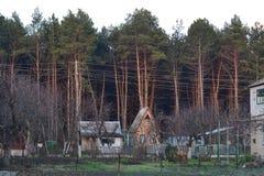 Camere accanto alla foresta Fotografia Stock