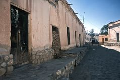 Camere in Cachi, Salta, Argentina Fotografia Stock