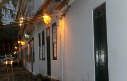 Camere in città storica di Paraty fotografia stock libera da diritti