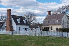 Camere coloniali a Williamsburg, VA fotografie stock