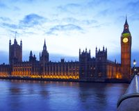 Camere del Parlamento Fotografie Stock