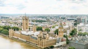 Camere del Parlamento e di Bigben Fotografia Stock Libera da Diritti