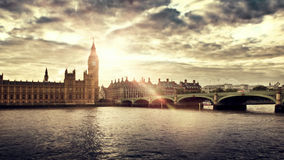 Camere del Parlamento e di grande Ben, Londra Immagine Stock Libera da Diritti