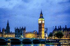 Camere del Parlamento, Londra Immagini Stock Libere da Diritti