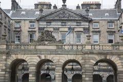 Camere della città sulla via reale di miglio; Edimburgo Immagine Stock