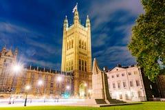 Camere della vista di notte del Parlamento Immagini Stock