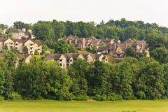 Camere di città di Hillside Immagine Stock