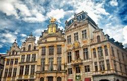 Camere di Grand Place famoso fotografia stock
