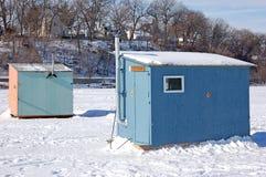 Camere di pesca del ghiaccio Fotografia Stock