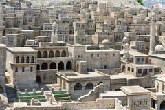 Camere di pietra tradizionali in Mardin Fotografia Stock
