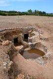 Camere di sepoltura preistoriche multiple Immagine Stock