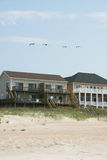 Camere di spiaggia fotografie stock
