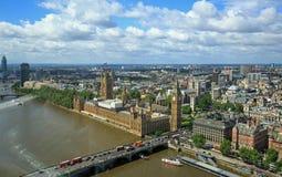 Camere di trascuratezza di vista aerea del Parlamento Immagine Stock