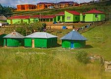 Camere e capanne nella provincia del Capo Orientale del Sudafrica Immagine Stock