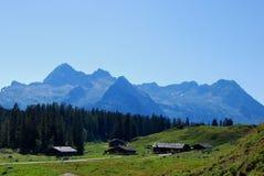 Camere e montagne Immagini Stock