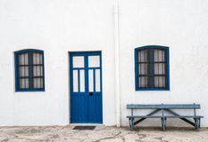 Camere nel villaggio di Almadraba di Monteleva, vicino dello sfruttamento di sale nel parco naturale di Cabo de Gata, Almeria, Fotografia Stock Libera da Diritti