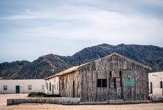Camere nel villaggio di Almadraba di Monteleva, vicino dello sfruttamento di sale nel parco naturale di Cabo de Gata, Almeria, Fotografia Stock
