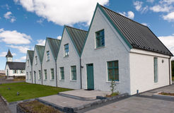 Camere nella sosta nazionale di Thingvellir, Islanda Fotografie Stock