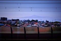 Camere nella vista del Giappone dal treno Fotografia Stock Libera da Diritti