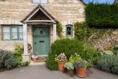 Camere più basse Cotswolds del villaggio di macello fotografia stock