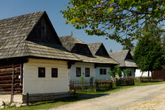 Camere pieghe, Pribylina, Slovacchia Immagini Stock