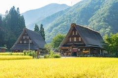 Camere (stile Gassho) di Gassho Zukuri in Gokayama Fotografia Stock