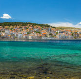 Camere su Lesvos Grecia fotografia stock