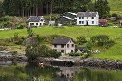 Camere sul fiordo Immagine Stock Libera da Diritti