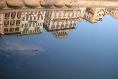 Camere sul fiume del Arno, Firenze Fotografia Stock Libera da Diritti