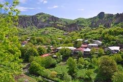 Camere sul pendio in Armenia Fotografie Stock