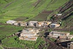 Camere sulla collina verde Immagini Stock Libere da Diritti