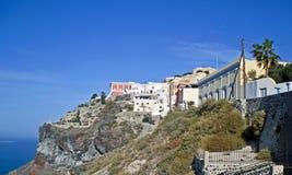 Camere in Thira su Santorini Fotografia Stock Libera da Diritti