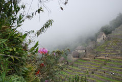Camere tradizionali in Machu Picchu fotografia stock