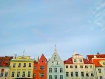 Camere variopinte di Tallinn Estonia in Città Vecchia Fotografia Stock Libera da Diritti