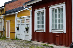 Camere in vecchio Porvoo Fotografie Stock Libere da Diritti