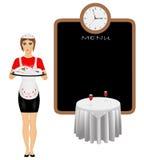 Cameriera di bar Illustrazione di Stock