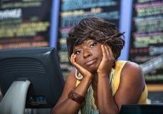 Cameriera di bar annoiata del caffè Fotografie Stock Libere da Diritti