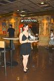 Cameriera di bar in casinò, Reno, Nevada Fotografia Stock Libera da Diritti