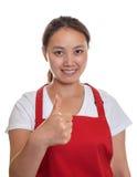 Cameriera di bar cinese di raccomandazione Fotografia Stock
