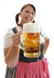 Cameriera di bar di Oktoberfest Immagini Stock
