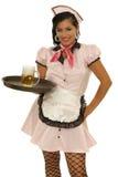 Cameriera di bar - retro stile Immagine Stock