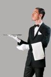 Cameriere altero Immagini Stock