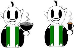 Cameriere con caffè Immagine Stock