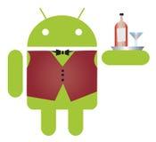 Cameriere del Android Fotografie Stock Libere da Diritti