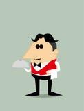 Cameriere del fumetto Immagine Stock