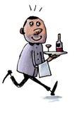 Cameriere piacevole Immagine Stock
