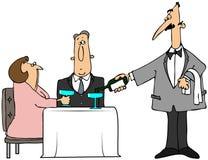 Cameriere sconosciuto illustrazione vettoriale