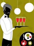 Cameriere, vettore Royalty Illustrazione gratis