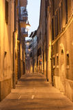 Camerino (πορείες, Ιταλία) τή νύχτα Στοκ φωτογραφία με δικαίωμα ελεύθερης χρήσης
